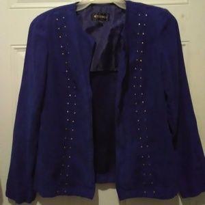 """""""Studio I"""" Blue Suede Blazer"""